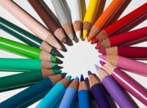 Colored pencil circle