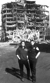 Susan and Mary at Ground Zero circa 2001